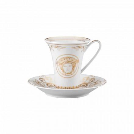 Rosenthal Versace Medusa Gala Porcelani dizenjon filxhan kafeje të gjatë