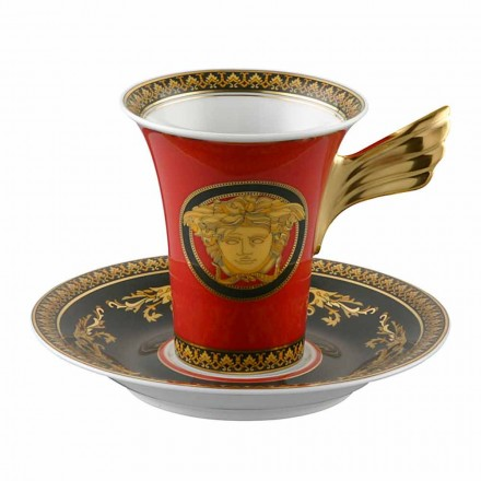 Kupa e porcelanit me dizajn të lartë Rosenthal Versace Medusa Rosso