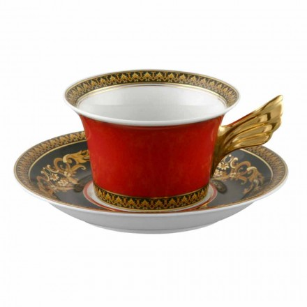 Rosenthal Versace Medusa Rosso filxhan çaji prej porcelani me dizajn modern