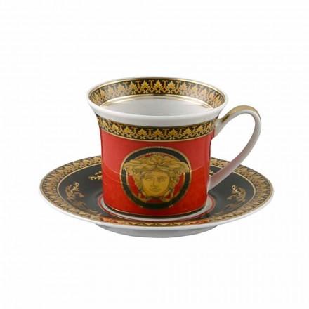 Kupa Rosenthal Versace Medusa Rosso Espresso në porcelan