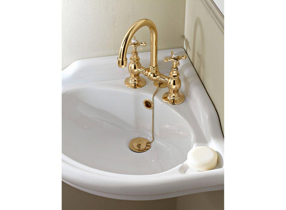 Çezmat e urës për lavaman në tunxh klasik të punuar me dorë - Fioretta
