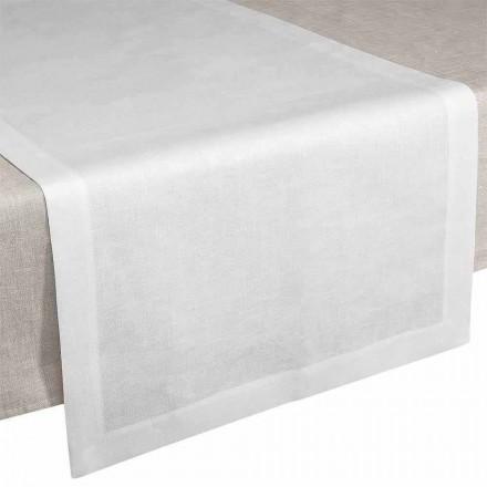 Vrapues tavoline me krem prej liri të bardhë 50x150 cm Prodhuar në Itali - Lulëkuqe