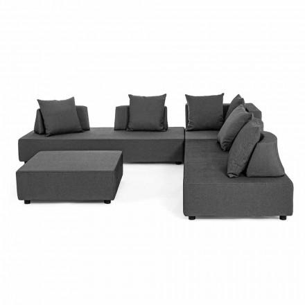 Lounge me qoshe të jashtme të dizajnit modern në pëlhurën e shtëpisë - Benito