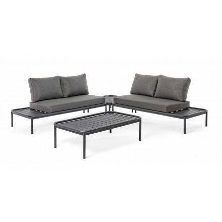 Lounge Outdoor Moderne në Alumini dhe Homemotion Anthracite - Palmira