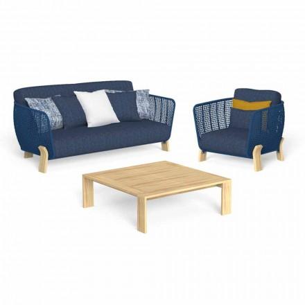 Kopsht Lounge me divan, kolltuk dhe tryezë luksoze kafeje - Argo nga Talenti