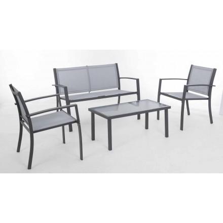 Sallë pritjeje kopshti me çelik të Bardhë ose gri dhe Tekstilene të Dizajnit - Skelet