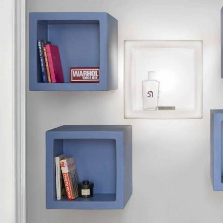 Kub i hapur me rrëshqitje në formë kubi me ngjyra dizajn modern, prodhuar në Itali