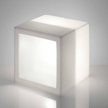Projektim modern raft i ndritshëm Slide Open Cube, prodhuar në Itali