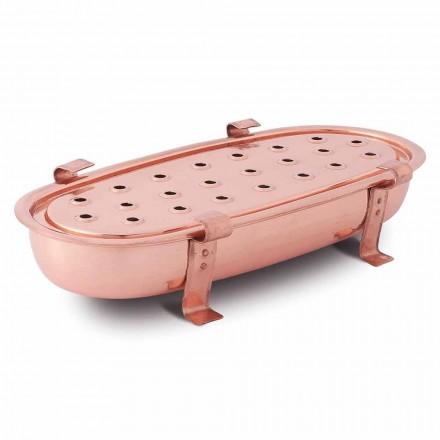 Pjatë për tavolinë për tenxhere bakri Prodhuar në Itali 45x23 cm - Mariaelena