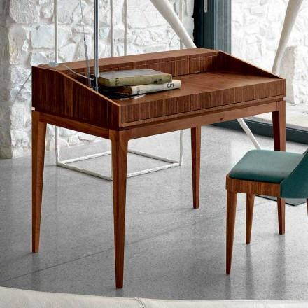 Tavolinë shkrimi moderne Acario në dru arre, L 105 x W 65 cm