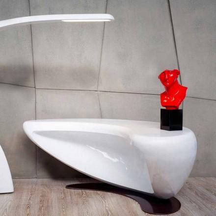 Tavolina e zyrave moderne të projektimit Boomerang, 100% i punuar me dorë në Itali