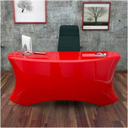 Tavolina moderne e zyrës Ely, e bërë në Itali, e disponueshme në të zezë, të bardhë, të kuqe