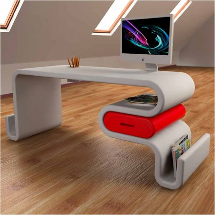 Tavolina zyre moderne e modelit Flex, e bërë tërësisht në Itali