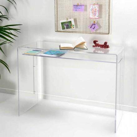 Tavolinë moderne në pleksiglasi transparente e prodhuar në Itali, Barga