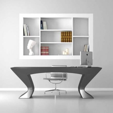 Tavolina zyre moderne e dizajnit Nefertiti, e bërë nga Solid Surface dhe druri