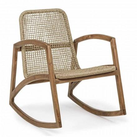 Karrige lëkundëse në natyrë në dru tik dhe endje të fibrave sintetike - Tosca