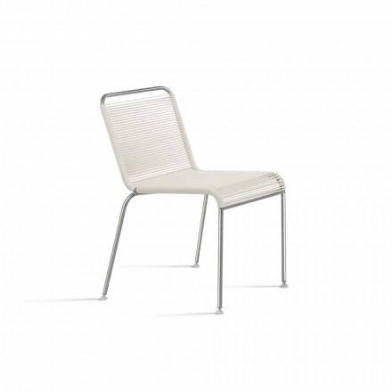 Karrige në natyrë e Dizajnit të Bardhë në çelik dhe PVC e bërë në Itali - Madagascar