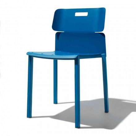 Karrige me ngjyra stackable për natyrë në alumini të prodhuar në Itali - Dobla