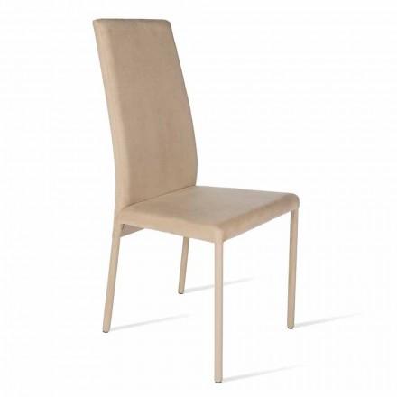 Karrige e bërë me shpinë të lartë, dizajn modern, Becca, e bërë në Itali