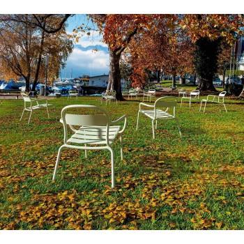 Karrige alumini stackable në natyrë e bërë në Itali, 2 copë - Shyla