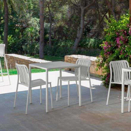 Trokadero karrige moderne stackable në natyrë nga Talenti, e bërë me alumin