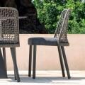 Dizajn karrige në natyrë në pëlhurë dhe alumin, Emma nga Varaschin