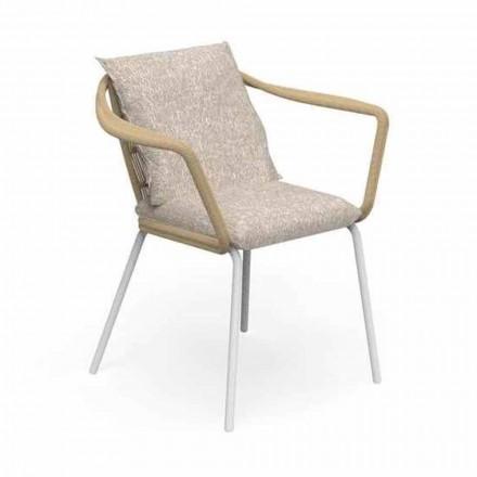 Karrige kopshtesh me dizajn modern në alumin dhe pëlhurë - Cruise Alu Talenti