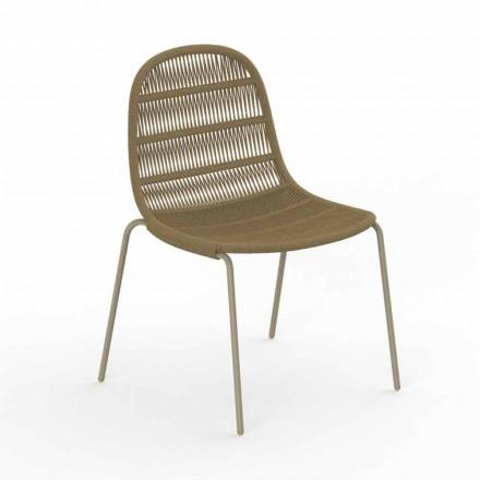 Karrige e kopshtit të dizajnit modern në alumin dhe pëlhurë - Panama nga Talenti