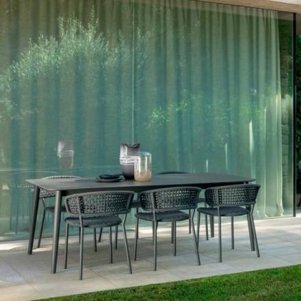 Karrige kopshti Moon Alu nga Talenti, me alumin dhe kordon sintetik