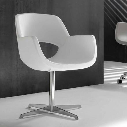 Karrige zyre projektuesi lëkure të bardhë faux Michelle