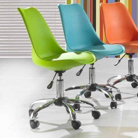 Kryetari i zyrave në polipropilen dhe metal me ngjyra - Loredana