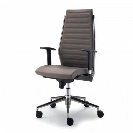 Karrige e plotë ekzekutive lëkure kokërr karrige Ester, dizajn modern