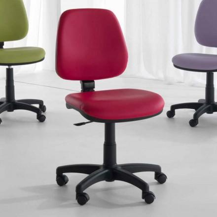 Karrige rrotulluese dhe ergonomike e zyrës në inde dhe eko-lëkurë - Danila