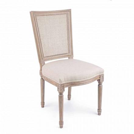 Karrige me dizajn klasik me strukturë druri 2 copë lëvizje shtëpiake - Murea