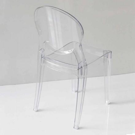 Karrige e Dizajnit Modern në Polikarbonat, në 2 Ngjyra - Dalila
