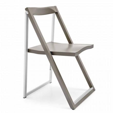 Karrige e palosshme e projektimit në alumin dhe dru ahu të bërë në Itali 2 copë
