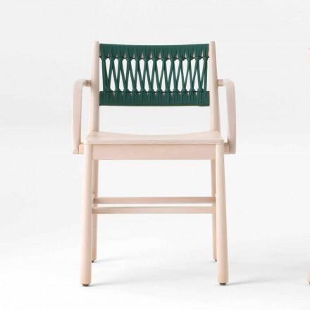 Karrige luksoze me mbështetëse në ahu të zbardhur dhe litar prodhuar në Itali - Nora