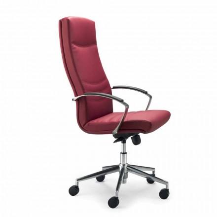 Karrige zyre lëkure monokoike faux Debora, dizajn modern