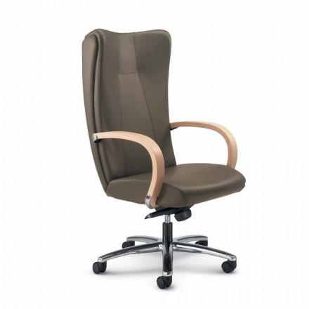 Karrige zyre ekzekutive lëkure të plotë karrige Ambra, dizajn modern