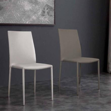 Karrige eko-lëkure me dizajn modern Desio për kuzhinë ose dhomë ngrënie