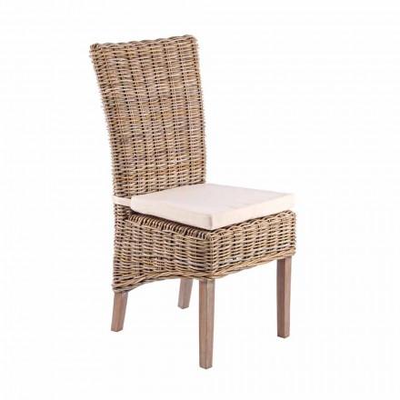 Karrige prej druri të kopshtit me jastëk dizajni për natyrë - Taffi