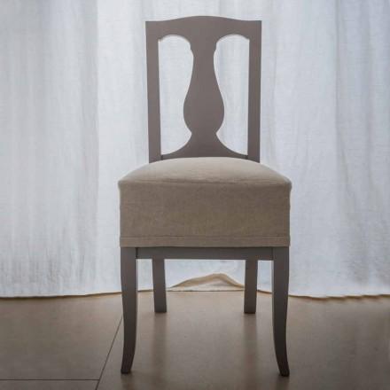 Karrige në dru ahu të llakuar nga ahu i bërë në Itali, Kimberly, 2 copë