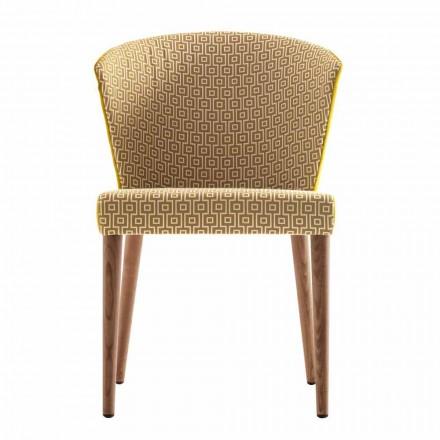 Karrige moderne e ngurtë druri e veshur me këmbë Grilli York e bërë në Itali