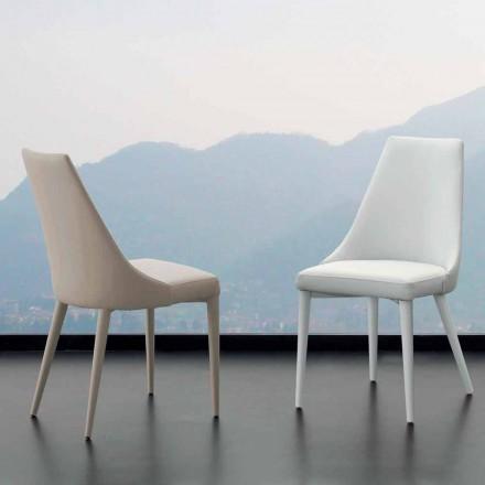 Karrige ngrënie Nepitella, me tapiceri eko-lëkure, dizajn modern