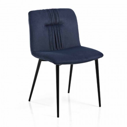 Karrige Monocoque në Pëlhurë me Ngjyrë dhe Projektim Metal të Zi 4 Copë - Florinda
