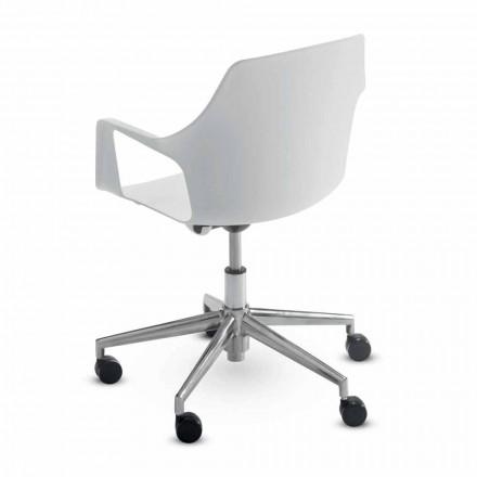 Karrige zyre në alumini dhe polipropileni të prodhuar në Itali, 2 copë - Charis