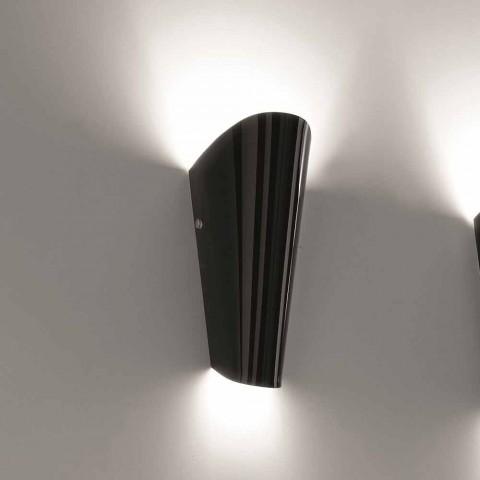 Dritë qelqi e punuar me dorë Selene Bloom në Itali 12x11 H 28 cm
