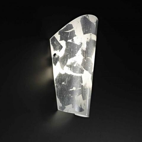 Dritë prej qelqi të punuar me dorë Selene Bloom në Itali 12x11 H28cm