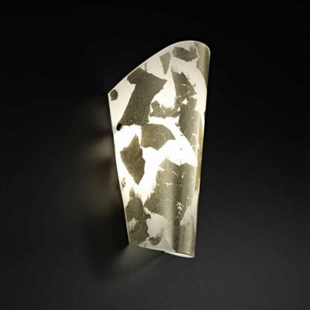 Dritë prej xhami të punuar me dorë Selene Bloom dritë 12x11xH28 cm, e bërë në Itali