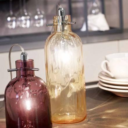Selene Bossa Nova Amber llambë tavoline qelqi, në erë, 10 H 26cm